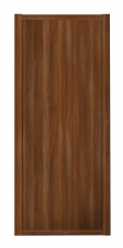 Shaker Sliding Wardrobe Door- WALNUT FRAME- WALNUT EFFECT SINGLE PANEL